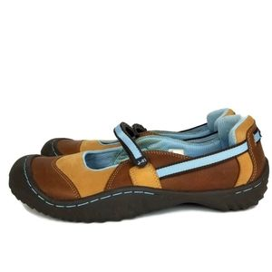 Jeep Rebirth Leather Blue Brown Tan Loafers